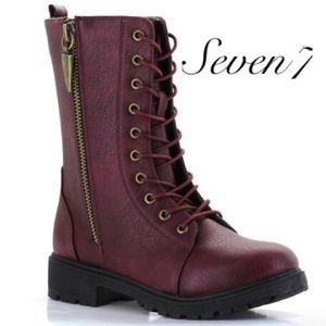 Just in🆕Seven7 wine colored combat boots